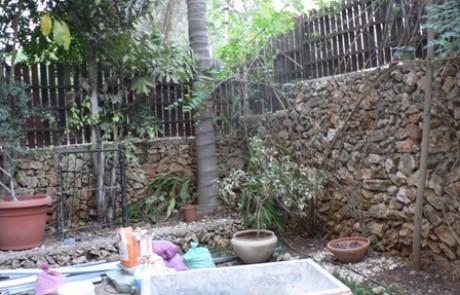 הקמת גינה עם דק עץ על חורבות גינה ישנה – כפר סבא